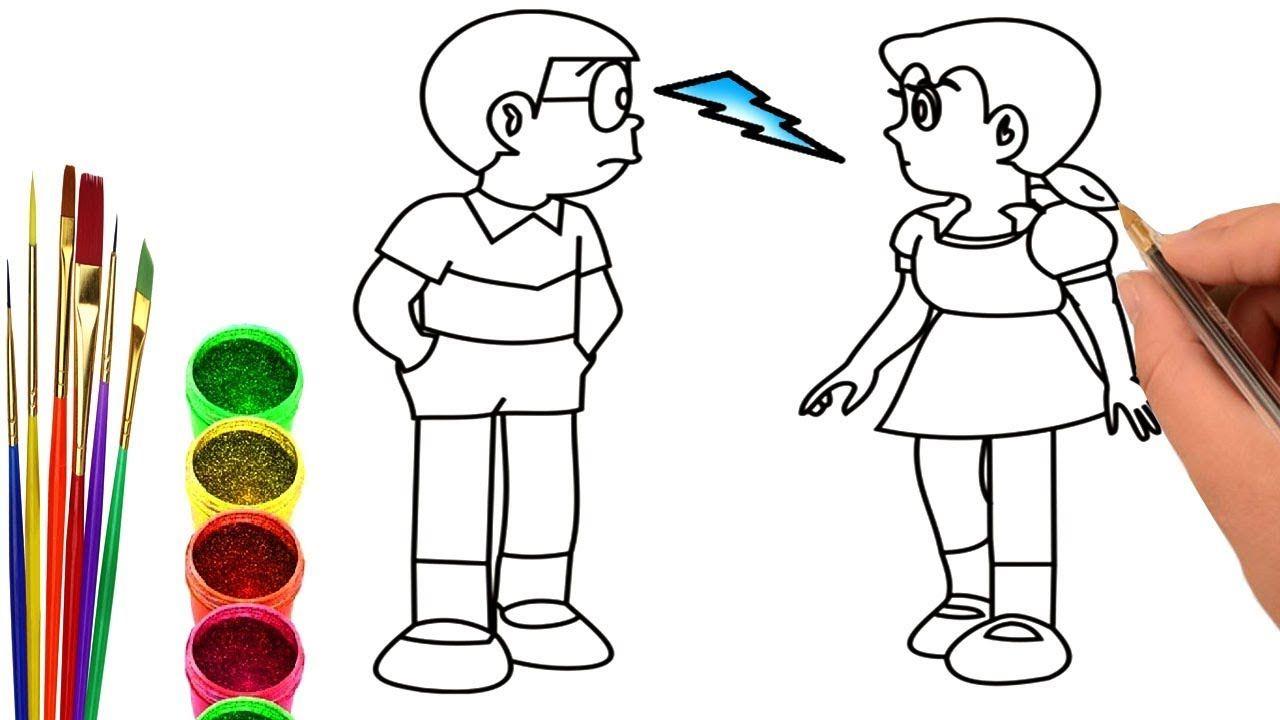 Doraemon Và Nobita đồ Chơi Trẻ Em Tô Màu Và Vẽ Tranh Doremon Và