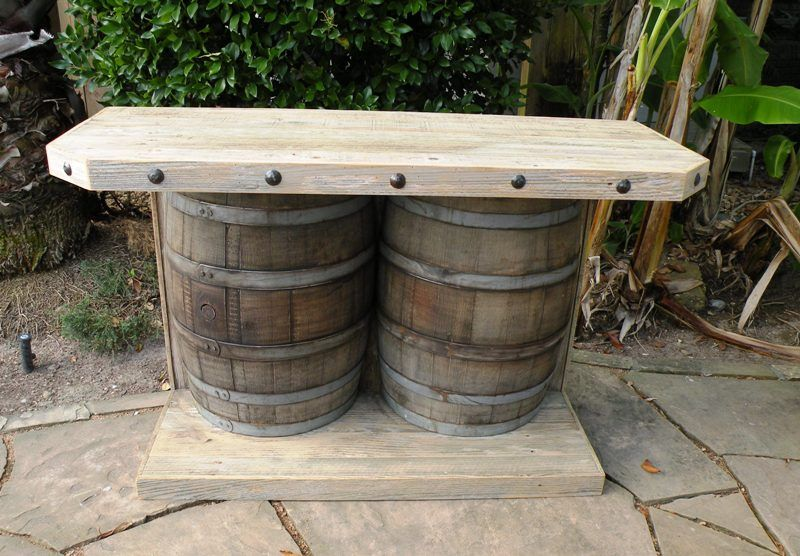 Rustic Patio Bar Large Hand Made Rustic Outdoor Wooden