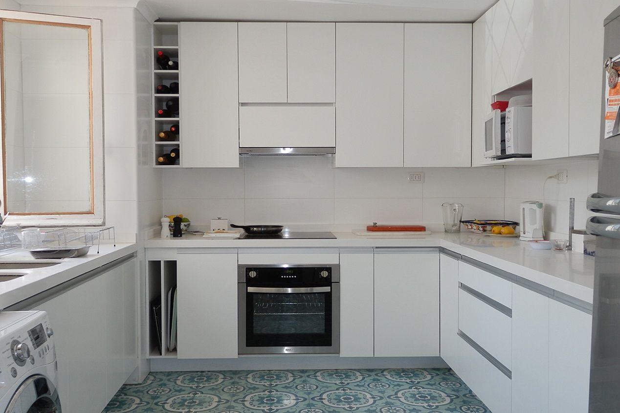 Resultado de imagen para muebles cocina color blanco | COCINAS ...