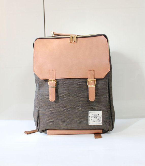 590ddcebcb6 Tweed Square Backpack (Brown) en 2019