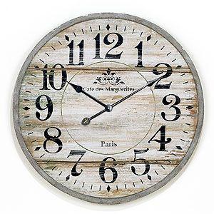 Norah Gray Wash Wood Clock Wood Clocks Clock Wooden Clock