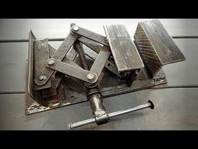 Faça uma morsa com sucata - Articulated car jack as a vise - Upcycling - YouTube #homemadetools