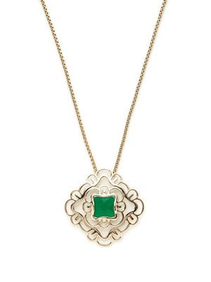 Kendra Scott Jewelry Saki Floral Cutout Pendant Necklace