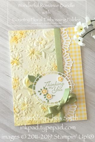 Romancing the New Country Floral Embossing Folder