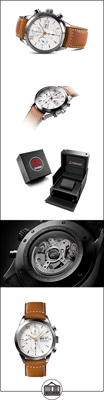 raidillon Timeless-Reloj automático para hombre con cronógrafo y correa de piel color marrón 38-cat-049  ✿ Relojes para hombre - (Lujo) ✿