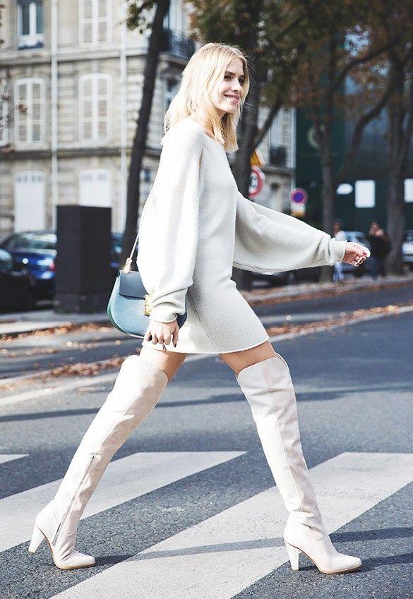 White dress booties