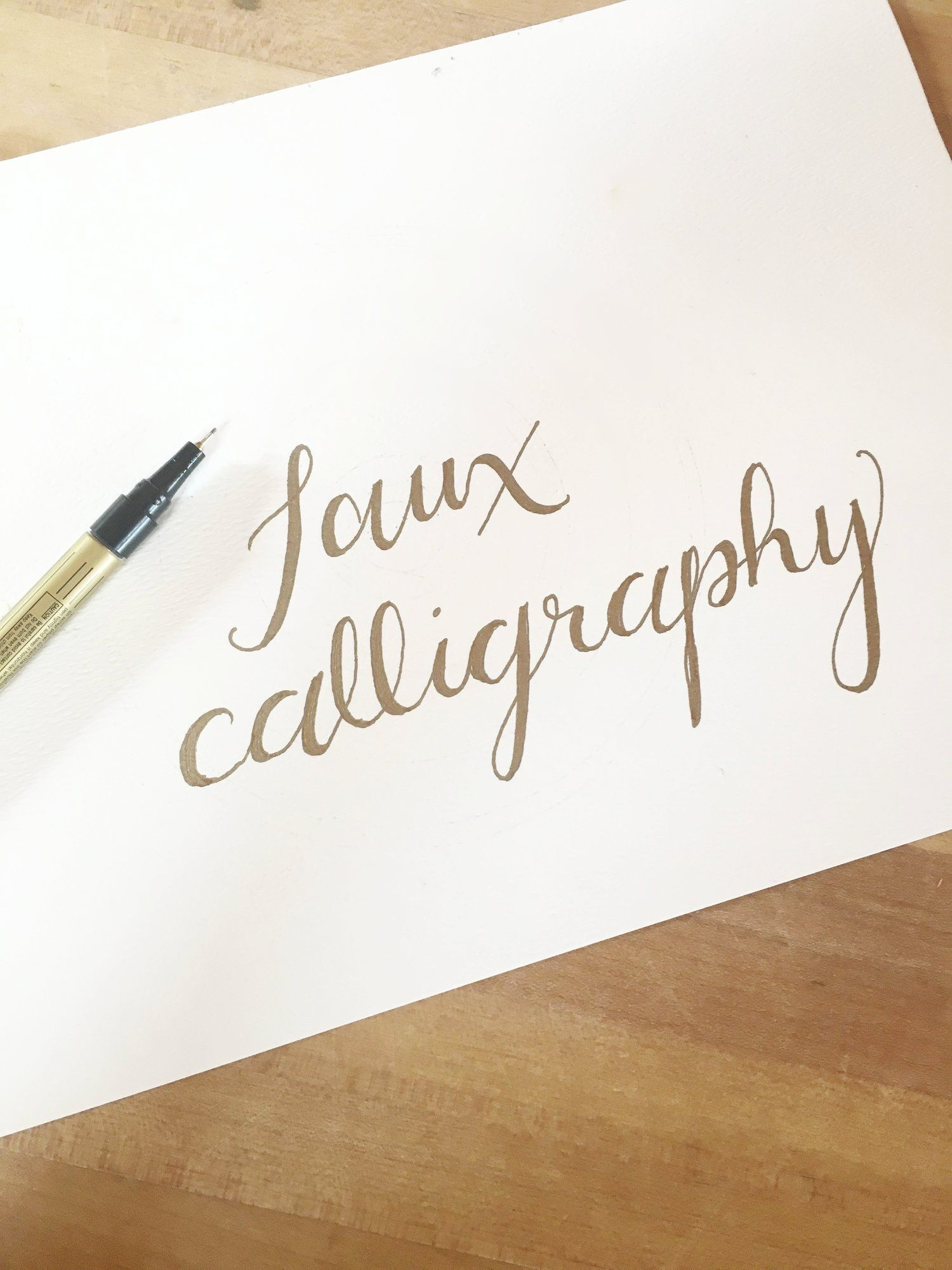 Learn How To Write Faux Calligraphy Easy Tutorial