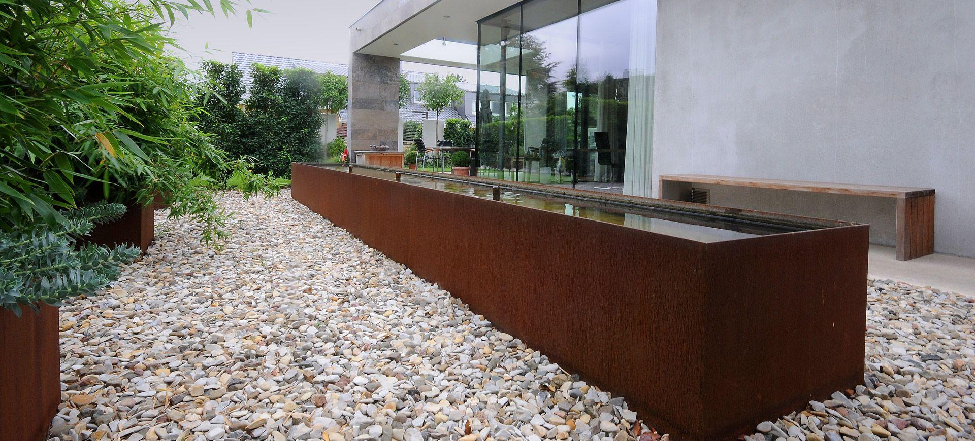 garten cortenstahl google suche terrasse pinterest. Black Bedroom Furniture Sets. Home Design Ideas