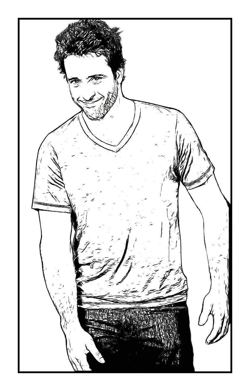 An Alex O\'Loughlin Celebrity Coloring Page by Dan Newburn of the ...
