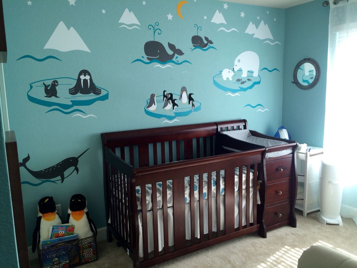 Arctic themed nursery | Baby room themes, Baby room decor ...