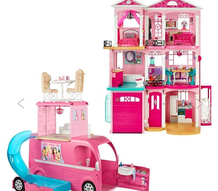 Barbie Dreamhouse Barbie Pop Up Camper Exclusive Two Gift Set
