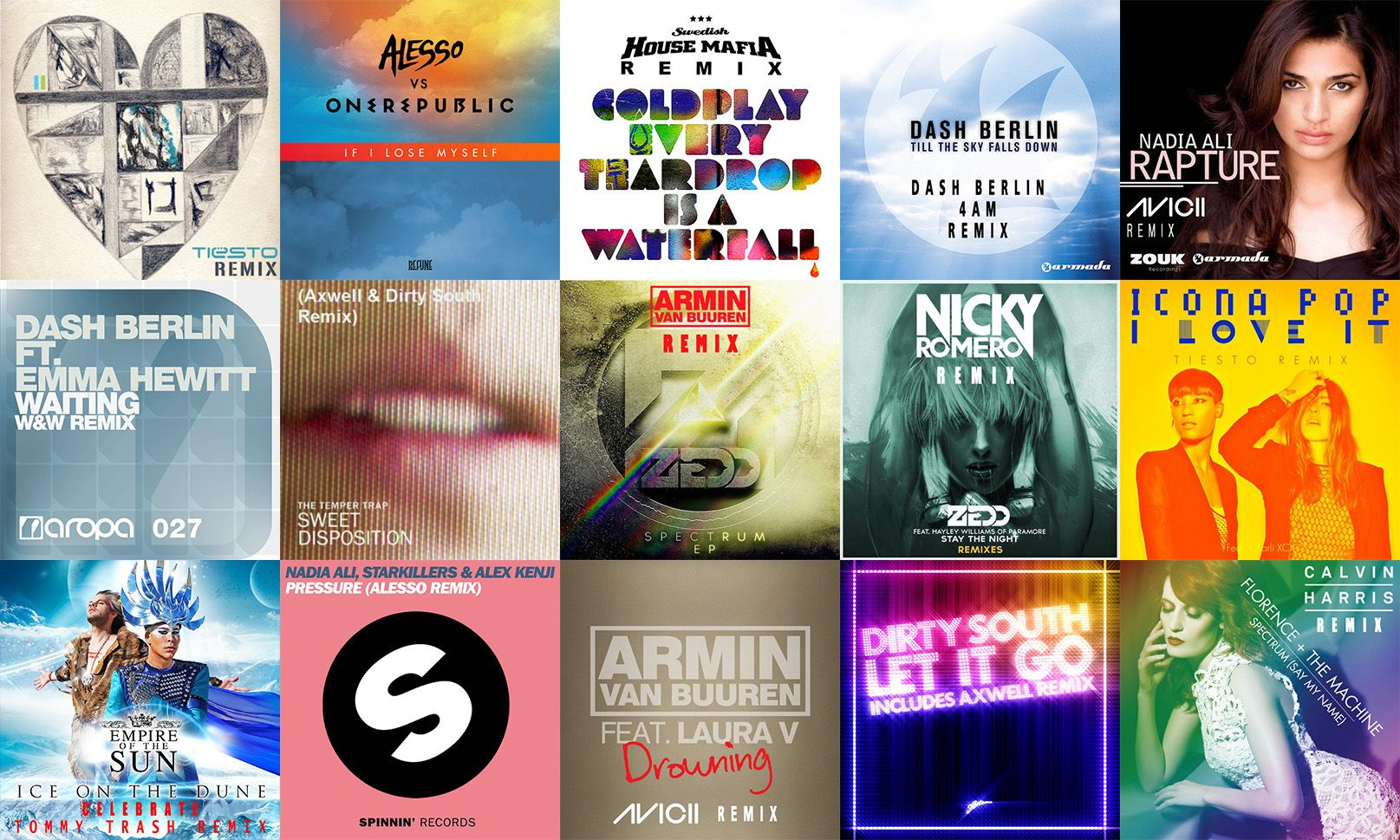 Relive the magical years of the modern EDM era from the eyes of game changing remixes by artists like Tiesto, Alesso, Axwell, Avicii and many more.