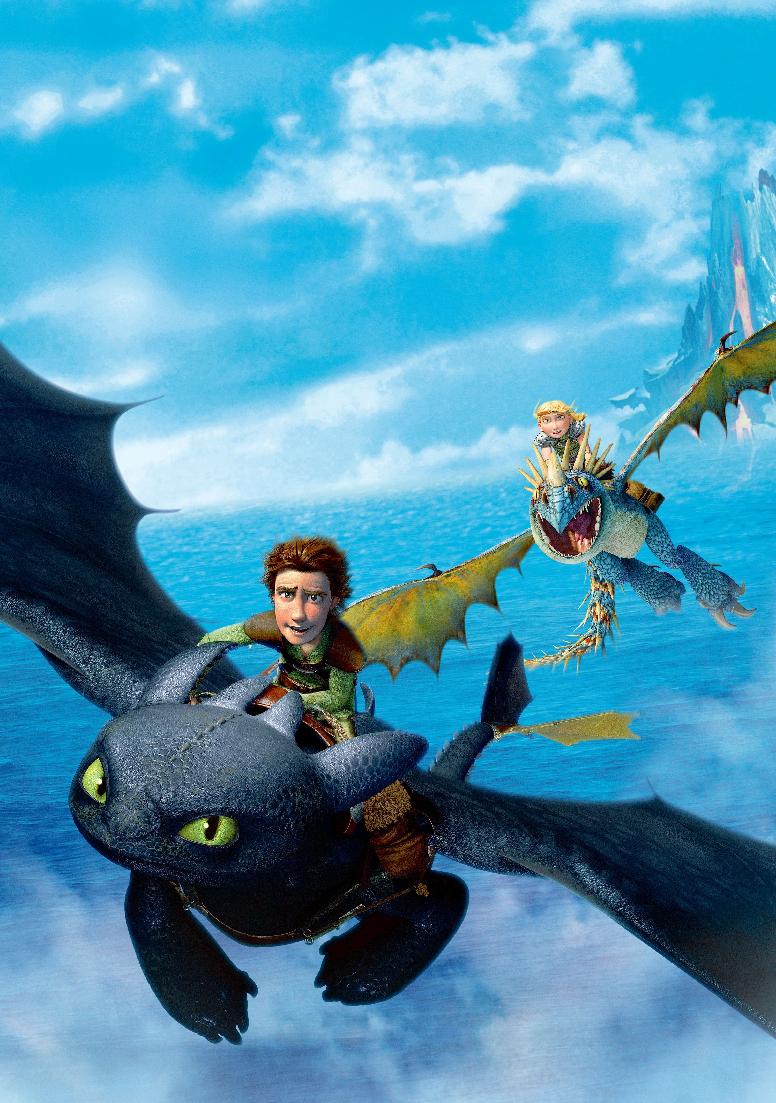 How too train your dragon textless poster how train