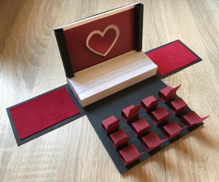 DIY: Varieté-Explosionsbox mit Anleitung | Drama-LLama #konzertkartenverpacken
