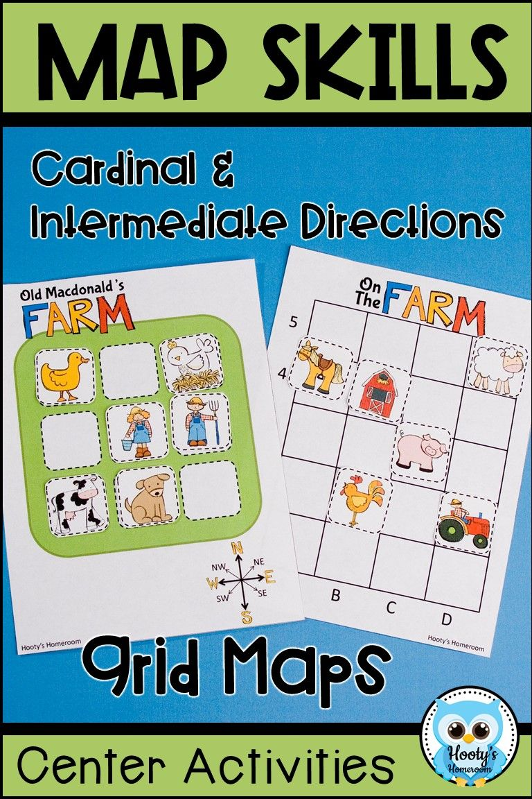Map Skills Center Activities & Interactive Posters Map