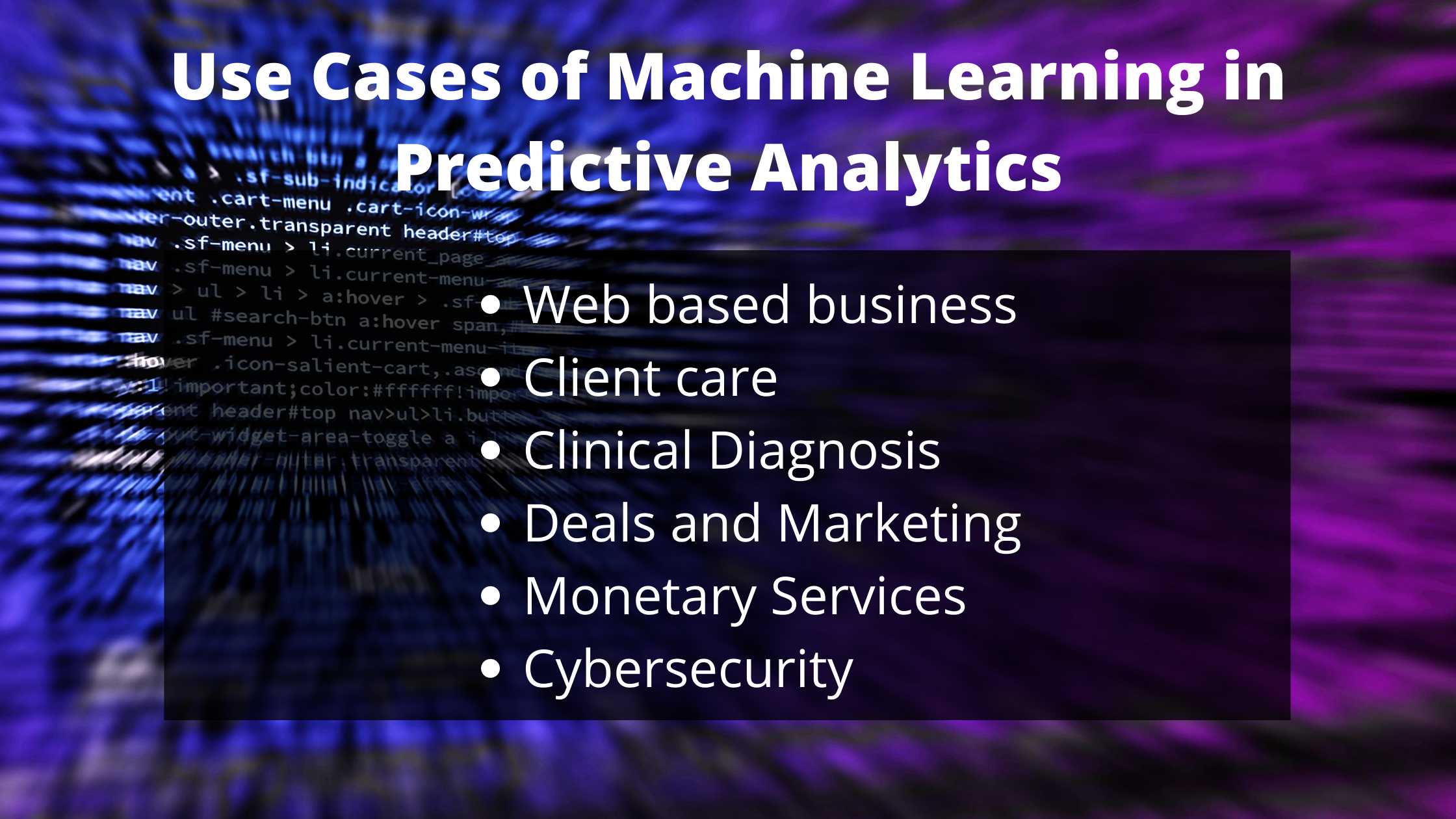 How Machine Learning Can Boost Your Predictive Analytics Predictive Analytics Machine Learning Learning Techniques
