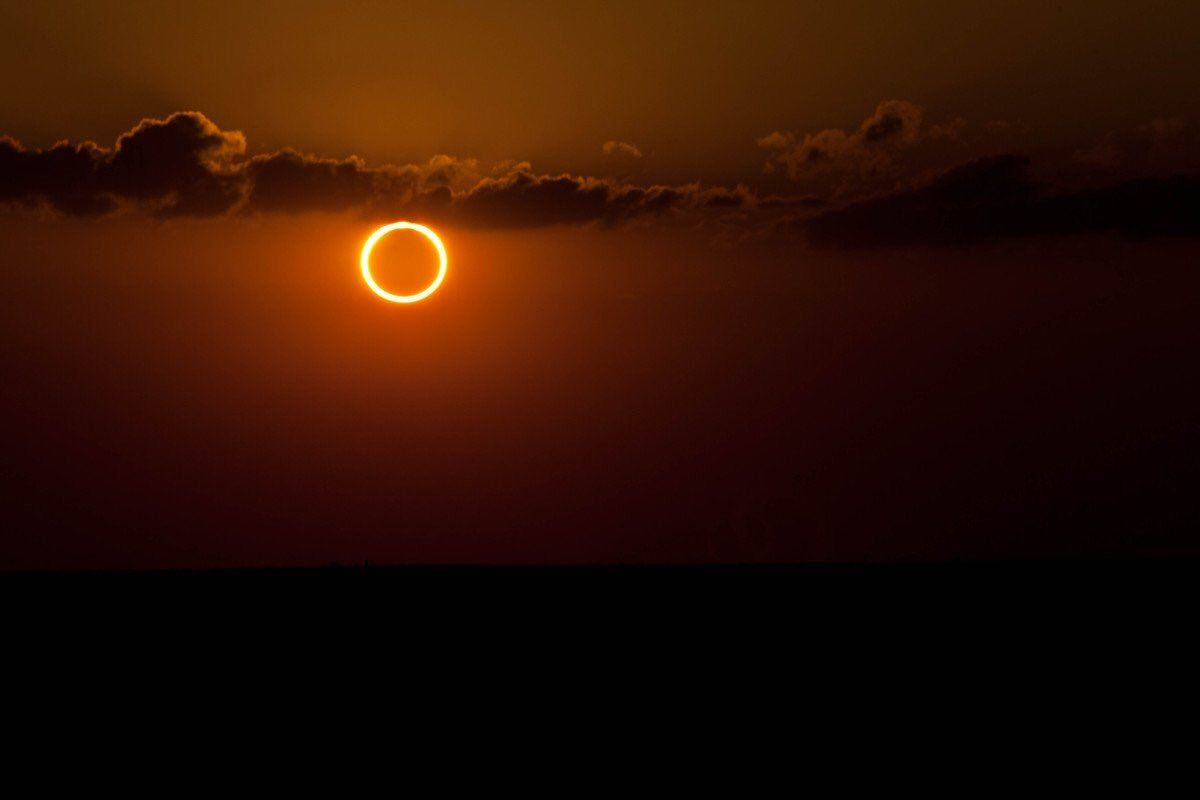 A 'Ring of Fire' solar eclipse is a rare phenomenon that occurs when the moon's orbit is at its apogee...