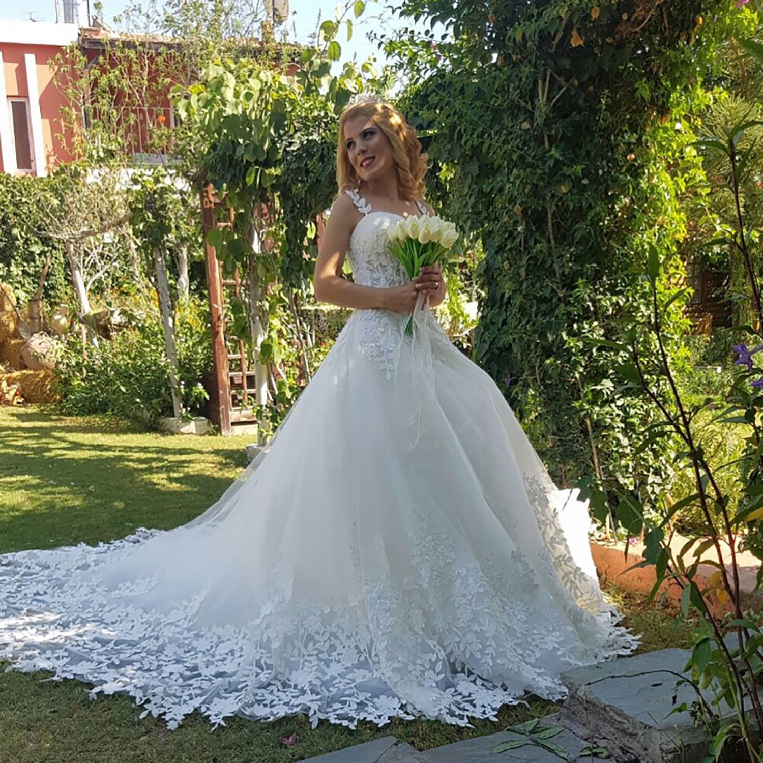 2018 New Lace Wedding Dress Sleeveless Bridal Gowns Size 4 6 8 10 12 ...