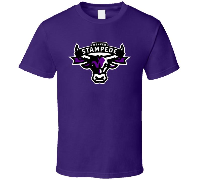 Denver Stampede Pro Rugby League Team Logo Fan T Shirt in
