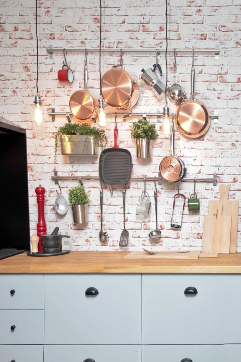 alternative to pegboard kitchen hanging utensils - Kitchen Pegboard Ideas