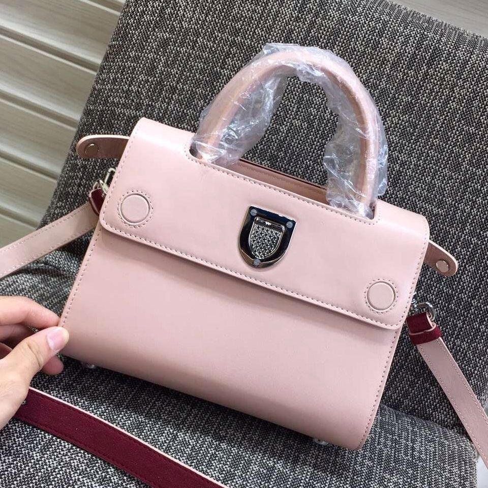 8fc5a9fbafa0 Dior Mini Diorever Bag In Smooth Calf Leather and Suede Leather Pink 2016