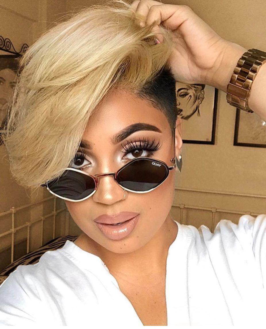 Popping amandizzllee thecutlife blonde bangs shorthair
