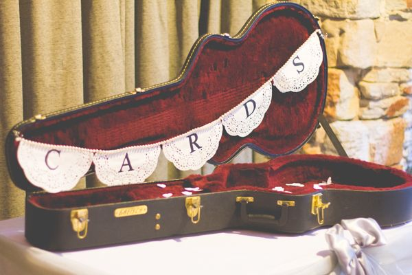 For a musical bride and groom. Music Wedding Card Box Guitar http://www.projectvalentine.co.uk/