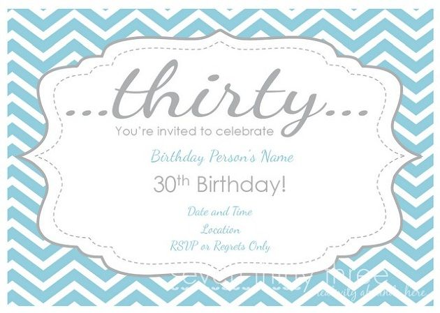 Free 30th Birthday Printables