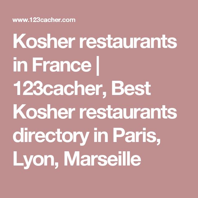 Kosher restaurants in France   123cacher, Best Kosher