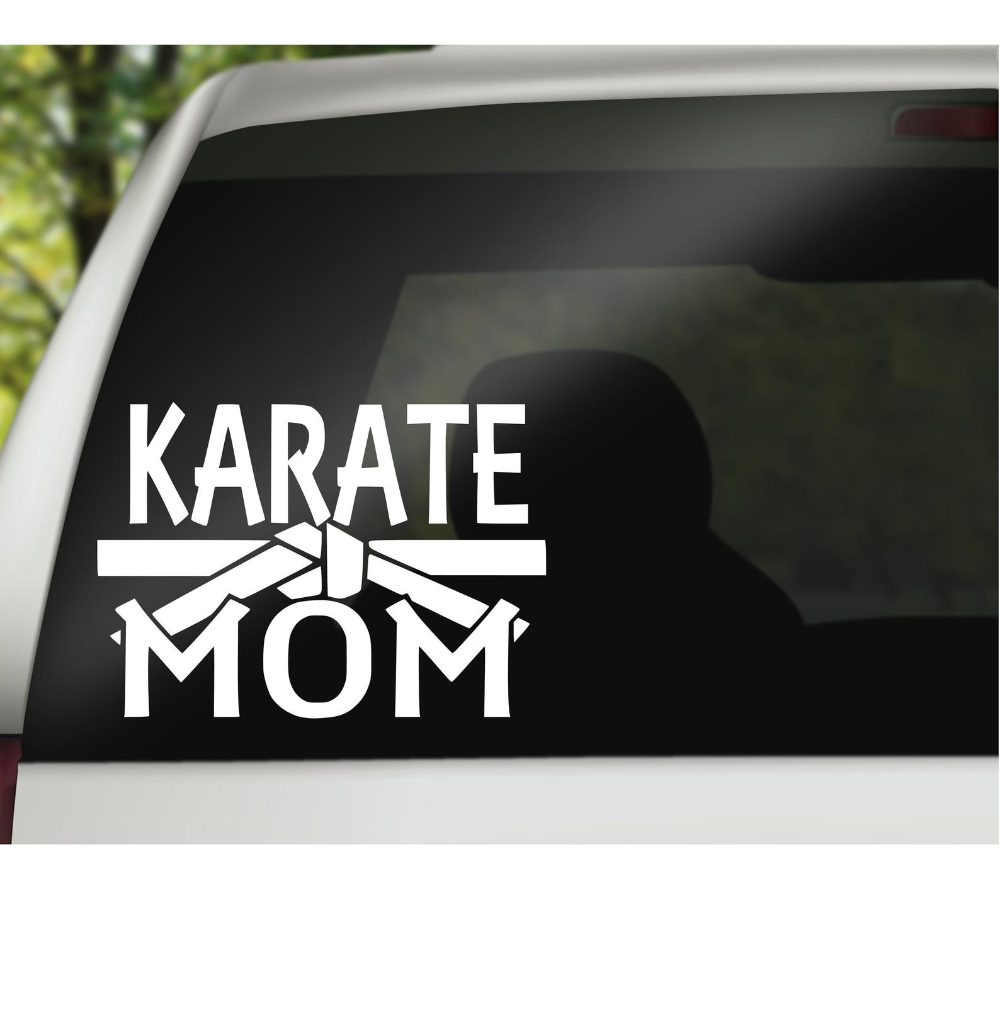 Karate Decal Karate Mom Decal Karate Dad Decal Marshall Etsy Karate Monogram Decal Dads [ 1010 x 1000 Pixel ]