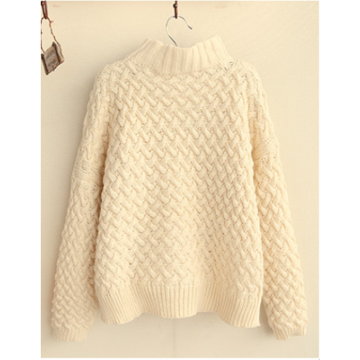 بلوزة هاينك نسائي صوف Fashion Pullover Sweaters