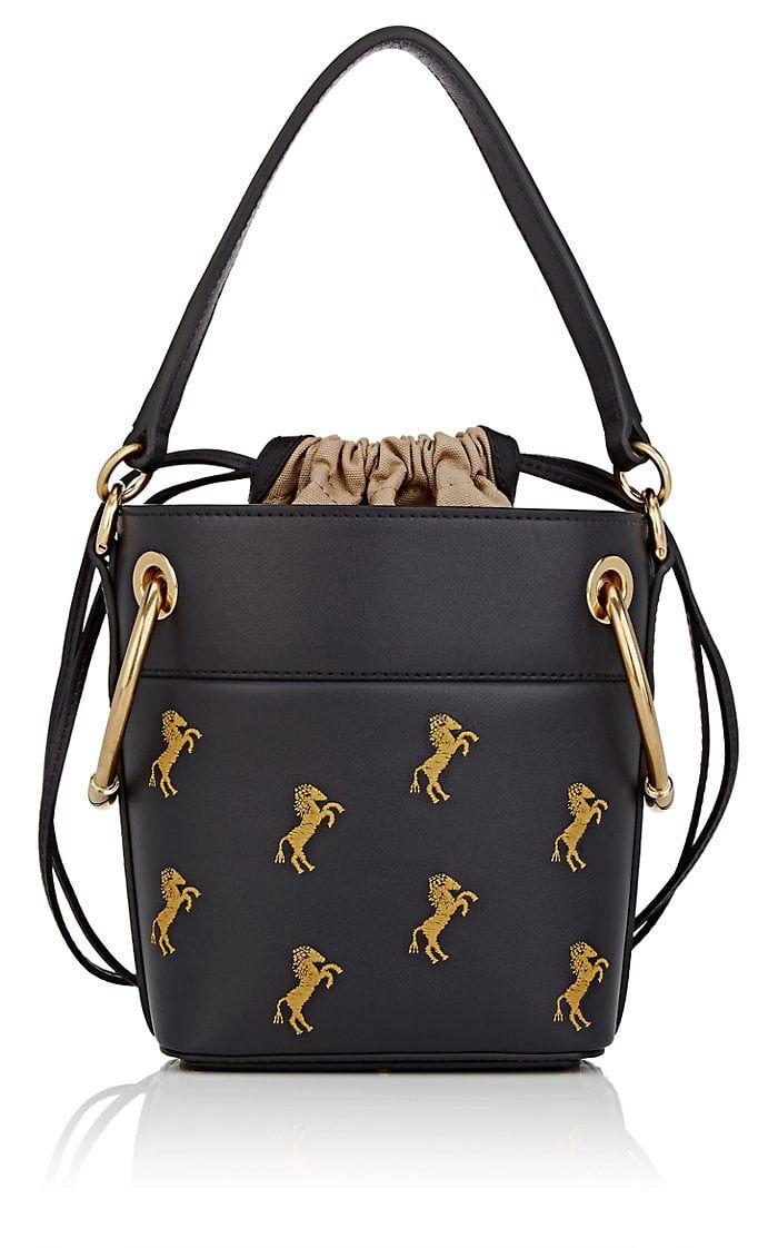 Chloe Roy Small Leather Bucket Bag - Blue 1 Sz  5d75995279b51