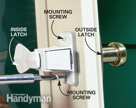 Replace A Broken Storm Or Screen Door Handle