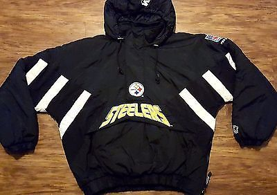 best loved 756c1 29adf Pittsburgh Steelers Starter Jacket Vintage NFL Pro Line ...