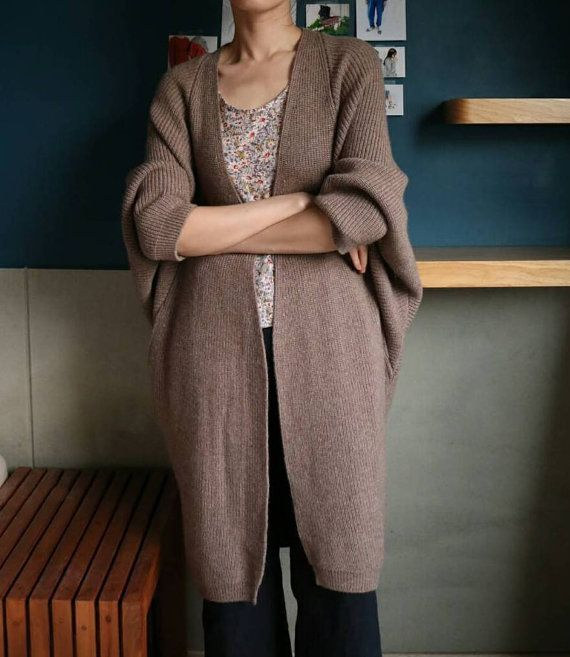 new product 8f241 f2690 Mona Cardigan - offener Vorderseite Kaschmir Wolle ...