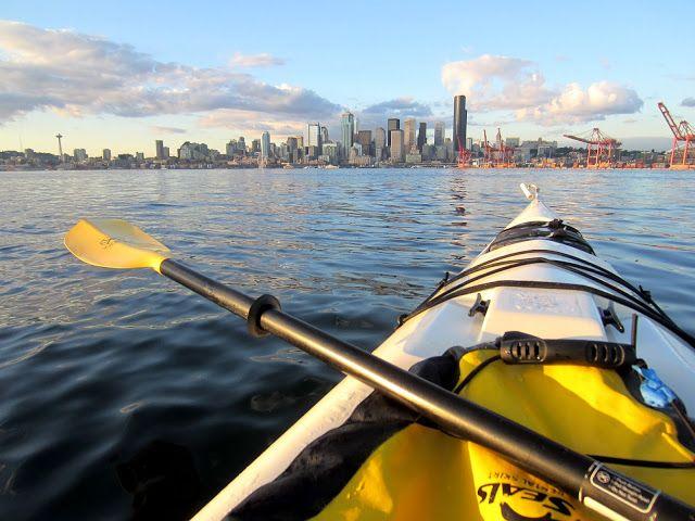 Kayaking Off Alki Beach