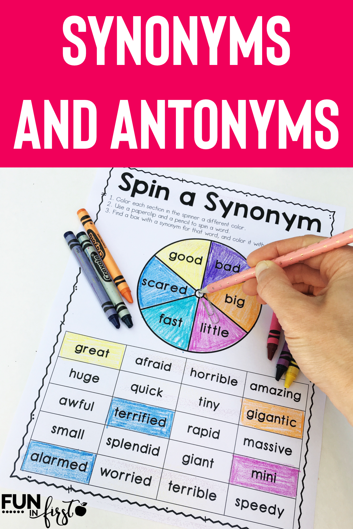 Synonym And Antonym Activity Pack Antonyms Activities Teaching Synonyms Synonym And Antonym Activities