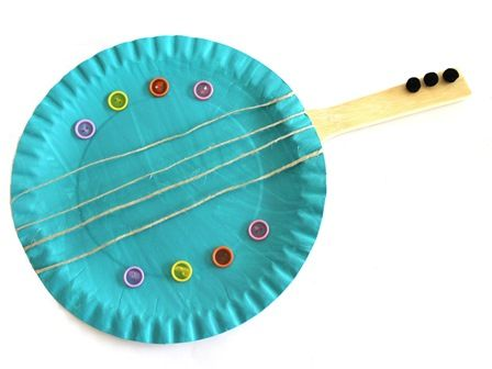 Paper plate guitar  sc 1 st  Pinterest & Paper plate guitar | Projects to Try | Pinterest