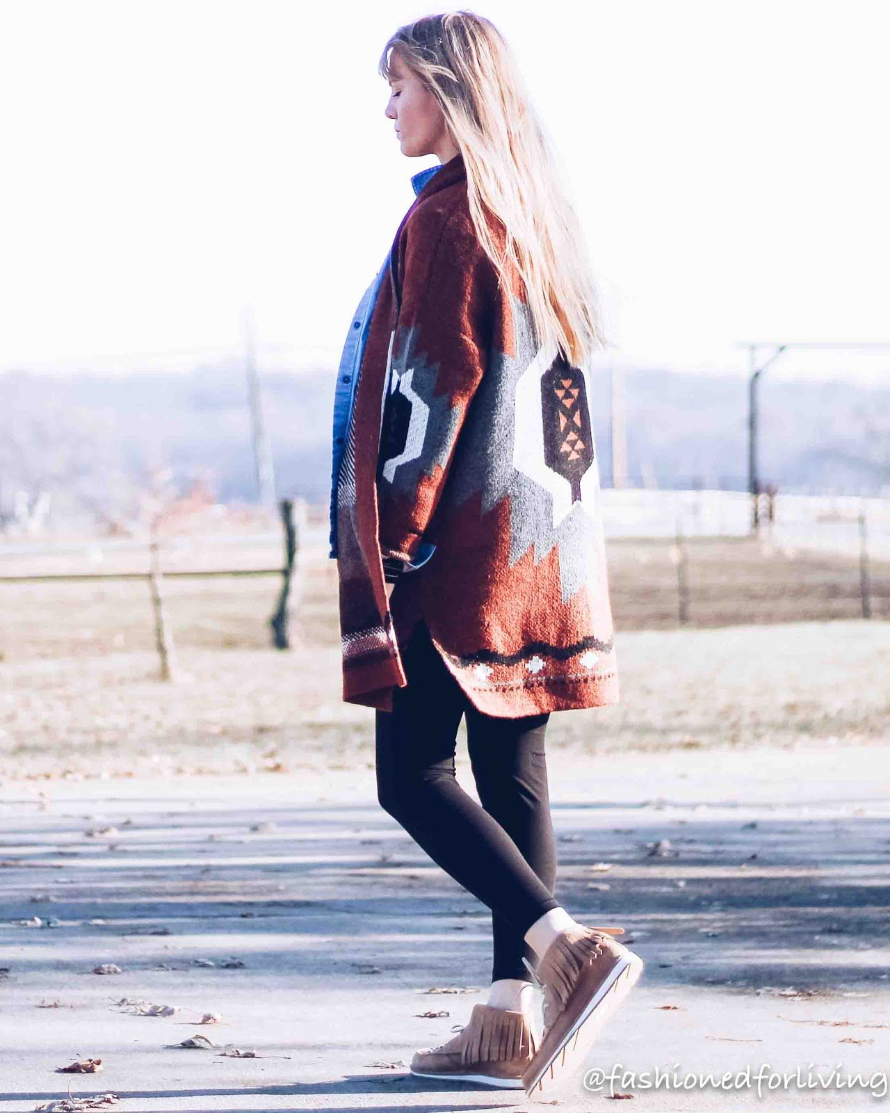 27337da3f7 ariat cruisers outfit with tribal cardigan and leggings