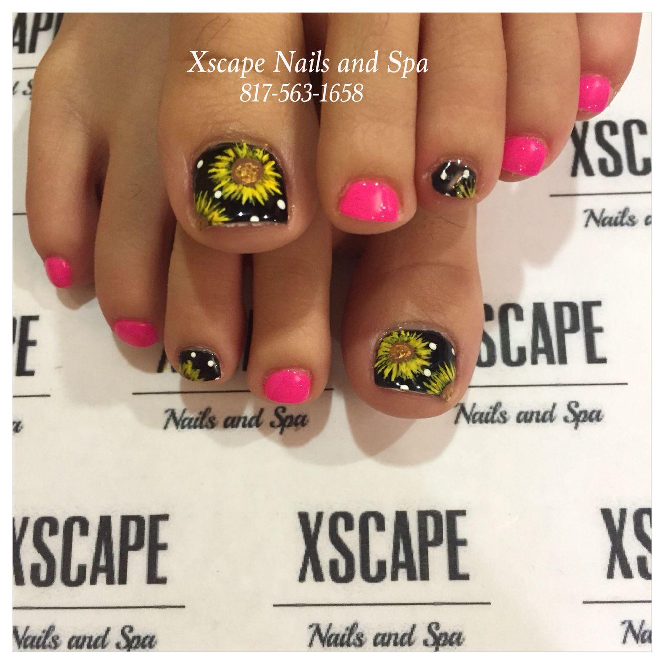 Toe Nail Designs Sunflowers