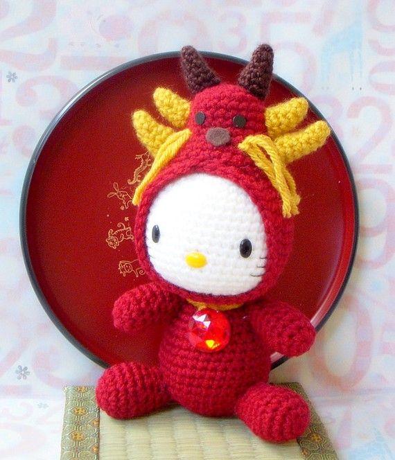 Hello Kitty Zodiac Dragon doll pattern