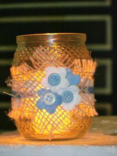 decorar sustentável: Arte rápida com vidro...