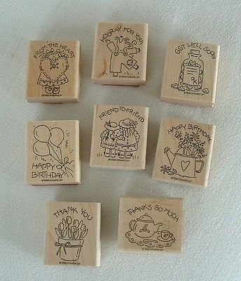 Stampin-Up-STAMP-SET-Thank-You-FRIEND-Heart-GET-WELL-Happy-BIRTHDAY-Nice-Easy