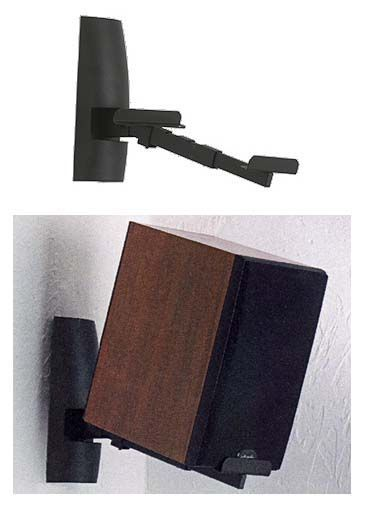 Sanus Speaker Wall Mounts For Larger Bookshelf Speakers Black WMS 2