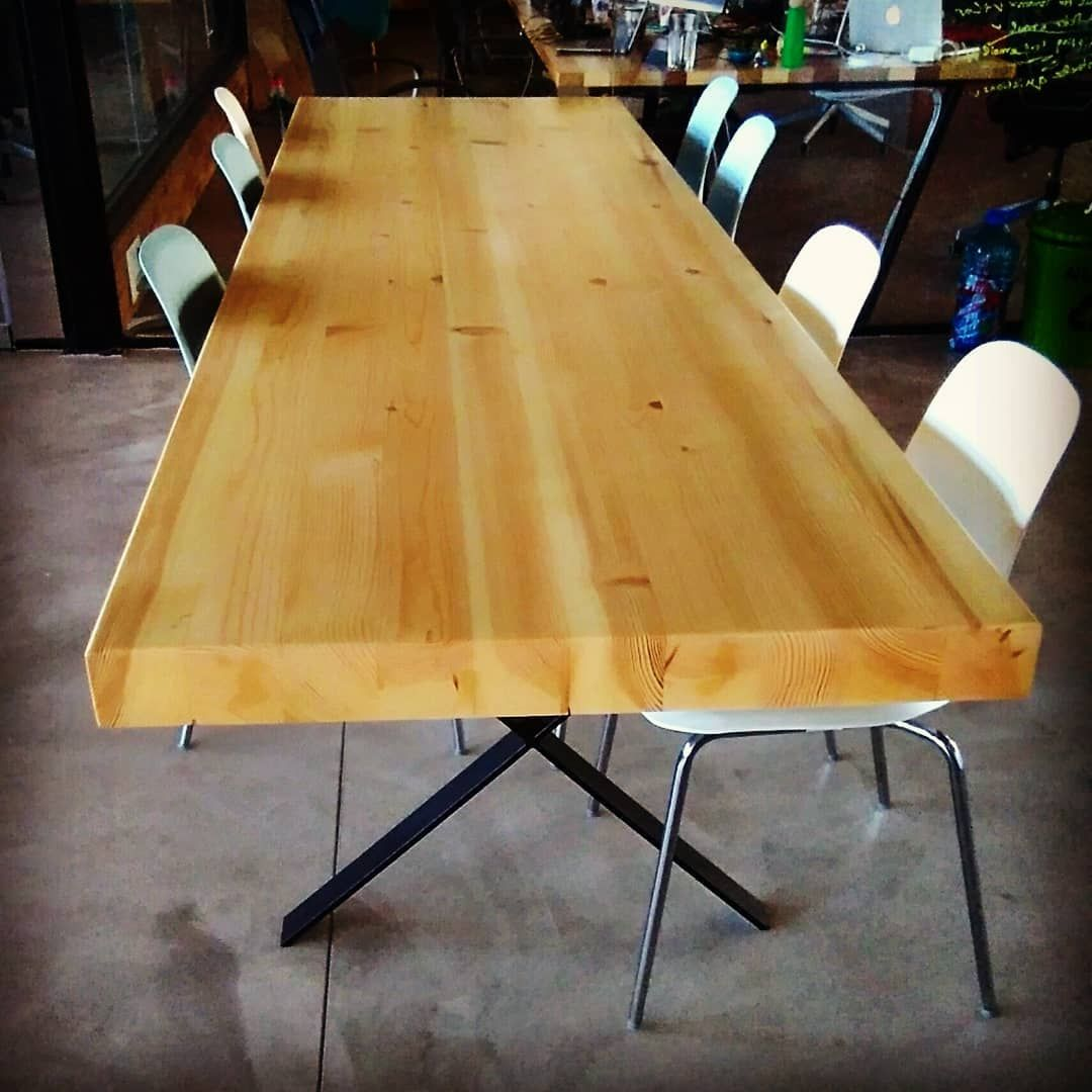 Another Beautiful Big Table Is Now Ready To Serve In Its New Home It S 3m Long And 1m Wide Made Of Pine Wood