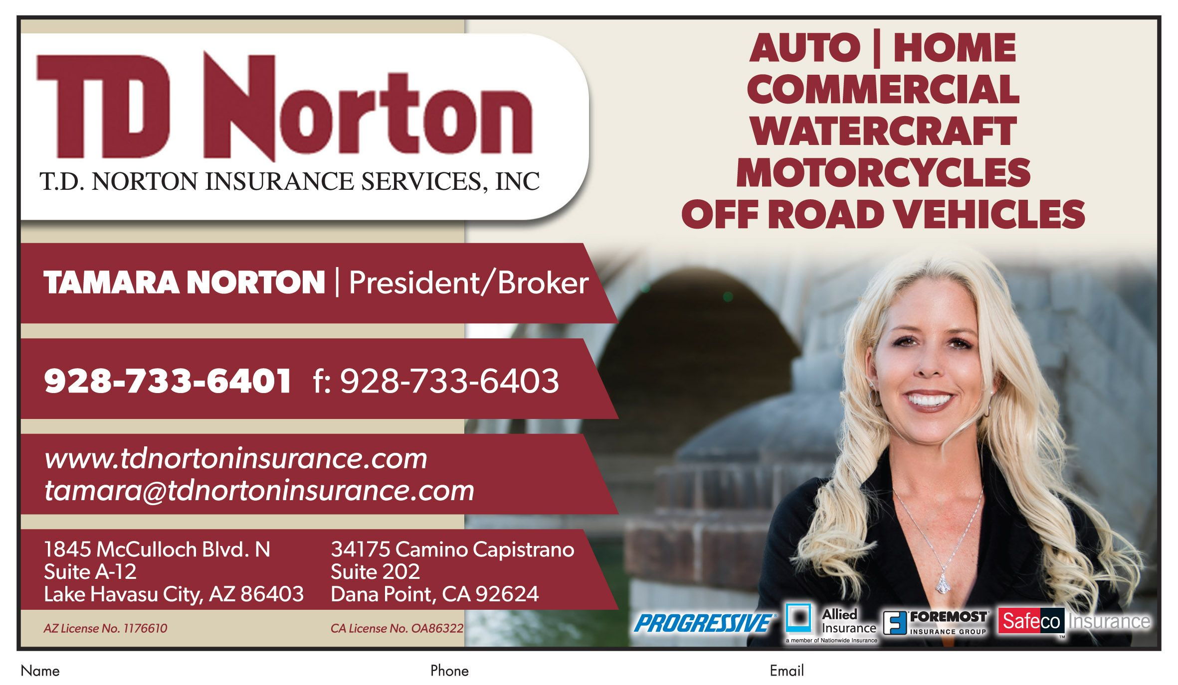 Need Insurance Call Tamaranorton Today At Tdnortoninsurance For