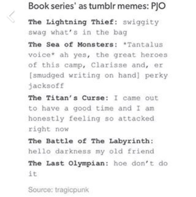 This pretty much sums up the books