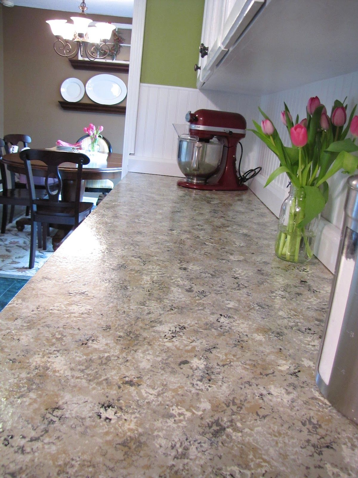 How to paint your countertops to look like granite   Faux ...