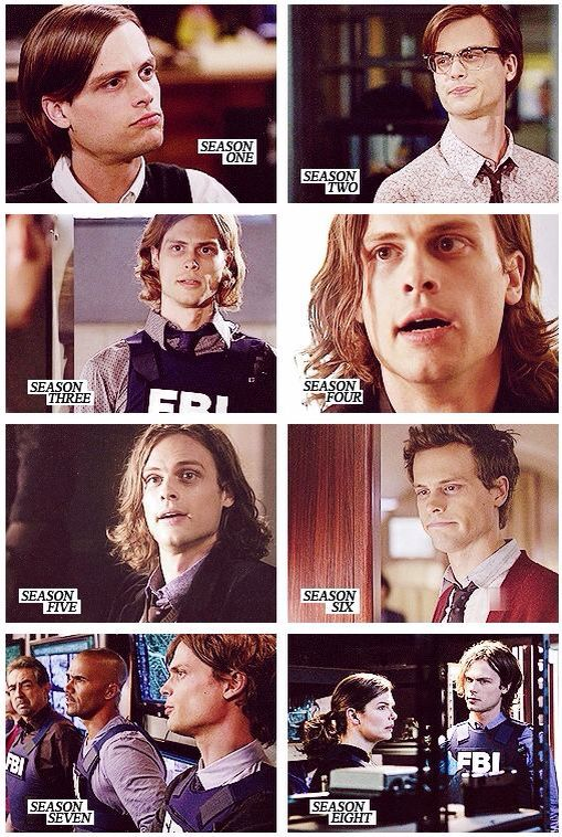 Hairstyles Of Dr Reid Spencer Reid Criminal Minds Criminal Minds Spencer Reid