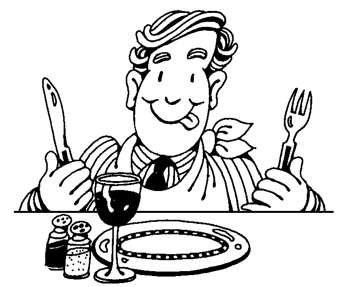 Clip Art Black And White Ready To Eat